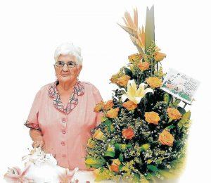 El pasado 4 de agosto Ana Silvia López de Moreno celebró sus 100 años de edad, rodeada de su familia. - Suministrada/GENTE DE CAÑAVERAL