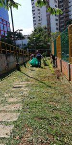 La zona verde de la cancha La Pera recibió mantenimiento esta semana.  - Suministrada/GENTE DE CAÑAVERAL