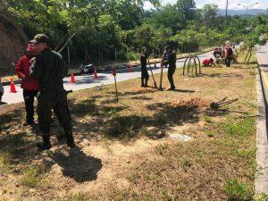 El AMB, la Policía y el Ejército retiraron la maleza y prepararon el terreno para la siembra.  - Suministrada/GENTE DE CAÑAVERAL