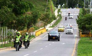 Debido a la inseguridad que denuncia la comunidad, la Policía realiza vigilancia frecuente sobre la Transversal de El Bosque. - Élver Rodríguez /GENTE DE CAÑAVERAL