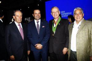 Alberto Montoya Puyana, Didier Tavera, Jairo Tobías Rey Acevedo, fundador New Cambridge y José Óscar Machado. - César Flórez/GENTE DE CAÑAVERAL