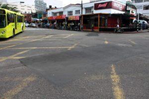 La mayoría de las vías del sector comercial fueron reparchadas.  - Suministrada/GENTE DE CAÑAVERAL