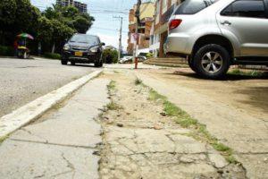 Los andenes de Cañaveral están deteriorados y requieren mantenimiento.  - /GENTE DE CAÑAVERAL