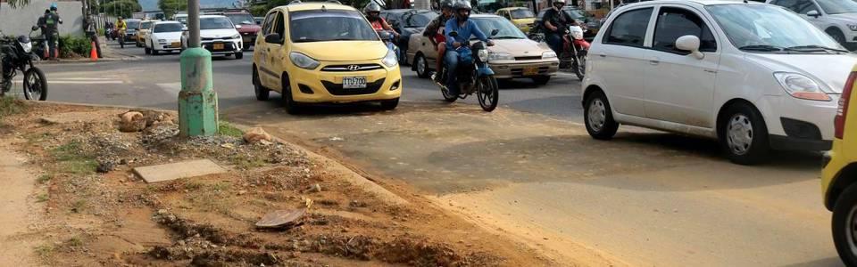 Piden arreglo de vía  en la paralela