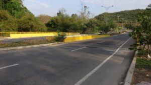 De acuerdo con la información del Área Metropolitana, a finales de abril comenzarían las obras para corregir los hundimientos de la Transversal de El Bosque.  - Suministrada/GENTE DE CAÑAVERAL