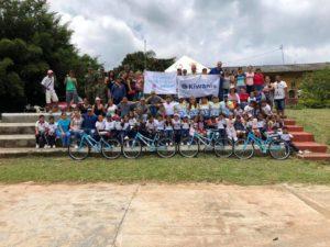 """Con el proyecto """"Movilidad para educar. Mil bicicletas por los niños de Santander"""", han logrado impactar escuelas rurales del área metropolitana de Bucaramanga.  - Suministrada / GENTE DE CAÑAVERAL"""
