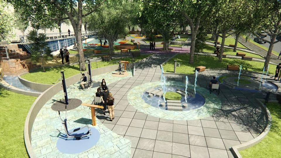 El parque incluyente La Pera contará con mobiliario especial para personas discapacitadas. - GENTE DE CAÑAVERAL