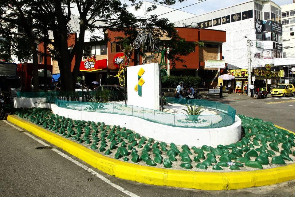 """La glorieta """"Las Ciclas"""" está ubicada frente al Centro Comercial Cañaveral. - César Flórez/GENTE DE CAÑAVERAL"""