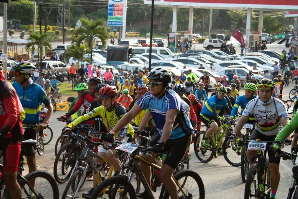 Alrededor de 600 ciclistas de diferentes edades participaron en la primera edición del evento. Este año se espera superar la cifra. - Suministrada / GENTE DE CAÑAVERAL