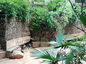 Los residentes de este sector hicieron un llamado a las autoridades para que se ejecuten obras de estabilización en la ribera del Río Frío, a la altura de Plazuela Cañaveral. - Suministrada/GENTE DE CAÑAVERAL