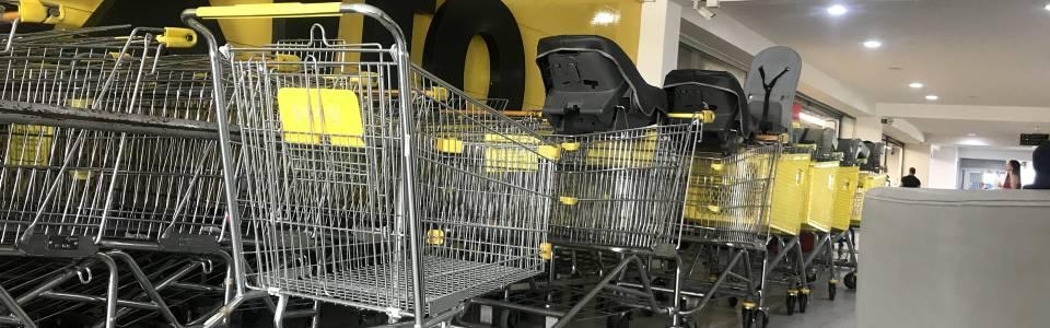 Supermercados piden  devolución de carritos