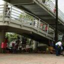 Operativos en el puente peatonal de Cañaveral