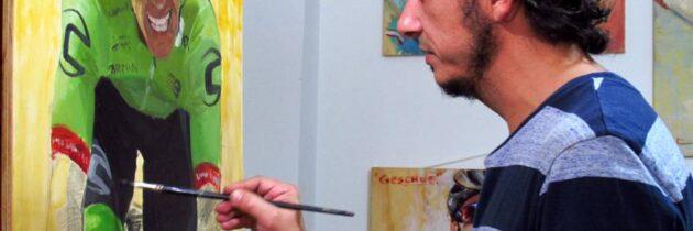 """Román Prada, un pintor a  """"contrarreloj"""" del Tour de Francia"""