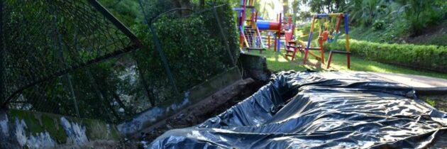 Habitantes de Plazuela Cañaveral,  preocupados por desprendimiento del muro