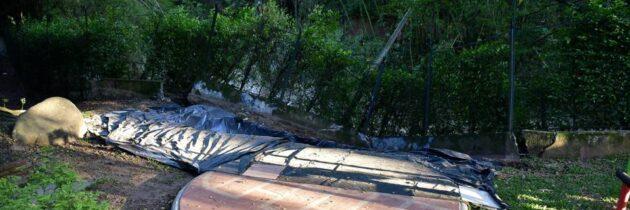 Plazuela Cañaveral sigue en alerta por desprendimiento de muro