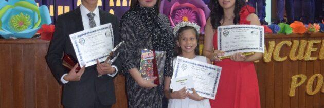 Niños se destacan en Pequeña declamadora Encuentro Nacional de Poesía